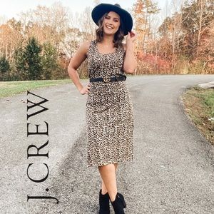 NWT J. Crew Leopard Print Dress Size Medium
